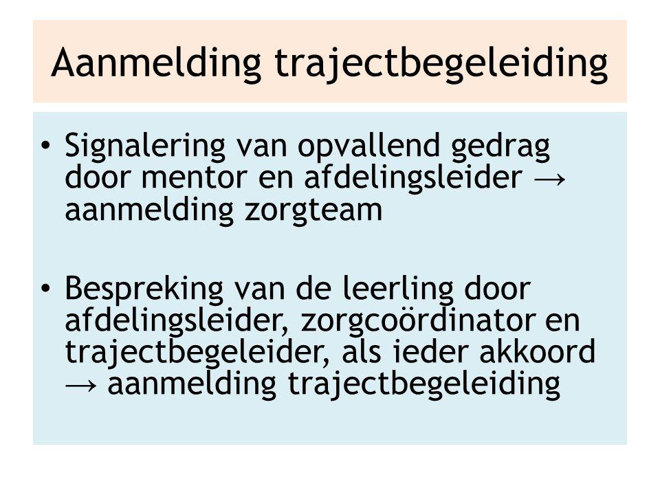 Faciliteiten trajectbegeleiding individuele begeleiding opvang