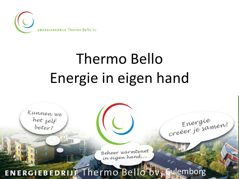 Thermo Bello Energie in eigen hand Culemborg