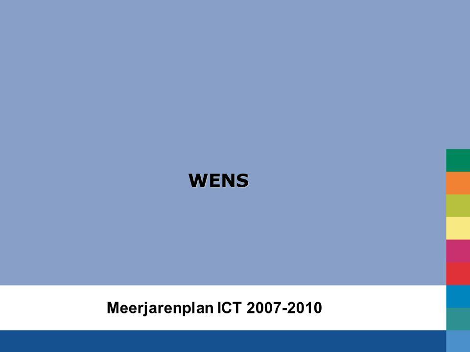 WENS Meerjarenplan ICT 2007-2010