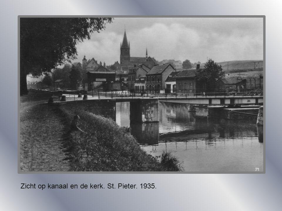 Aanleg St. Pieterssluis. 1921.