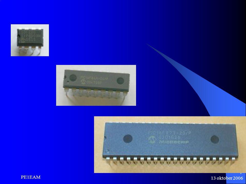 13 oktober 2006 PE1EAM 8 Wat is een microcontroller.