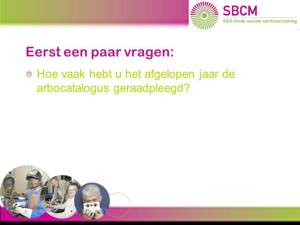 NAJAARSCONFERENTIE 23 November 2010 Hoe implementeer ik de Arbocatalogus SW? www.arbocatalogussw.nl