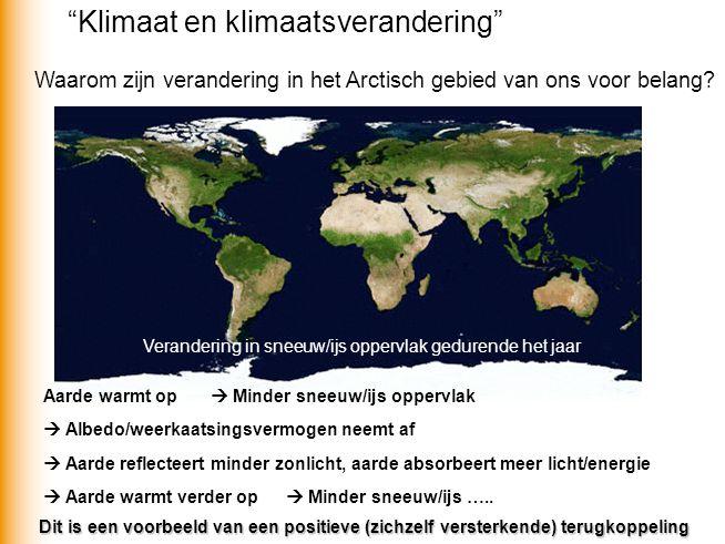 Waarom zijn verandering in het Arctisch gebied van ons voor belang.