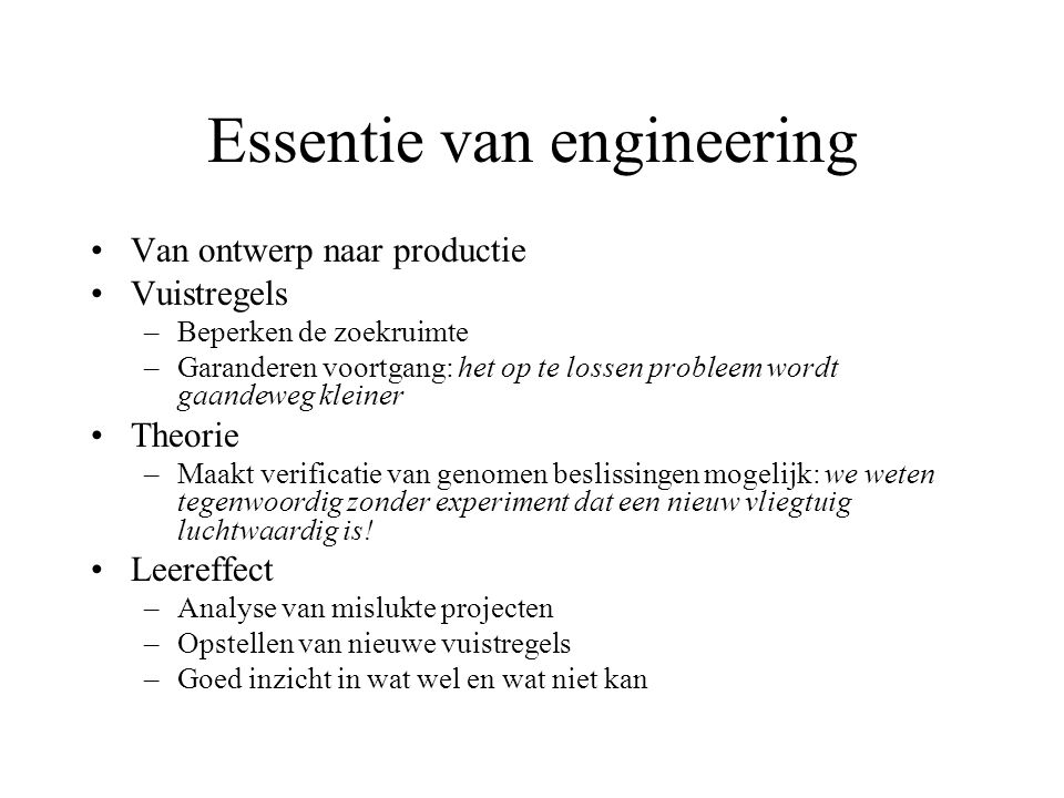 Waarom software engineering.