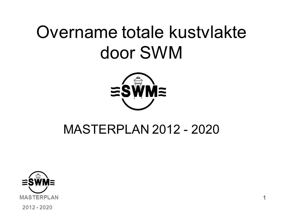 12 Milieu Wet- en regelgeving Normen vastleggen voor afvalstromen Normen vastleggen voor grondstoffen verbruik Normen vastleggen voor Chemicaliën verbruik MASTERPLAN 2012 - 2020