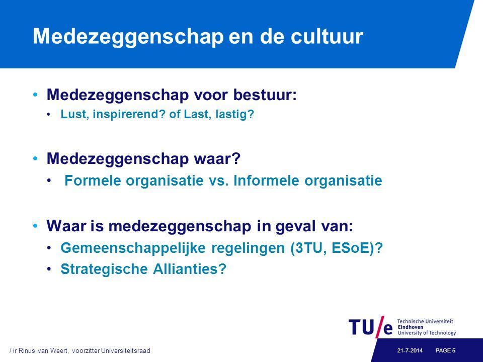 Medezeggenschap en de cultuur Medezeggenschap voor bestuur: Lust, inspirerend? of Last, lastig? Medezeggenschap waar? Formele organisatie vs. Informel