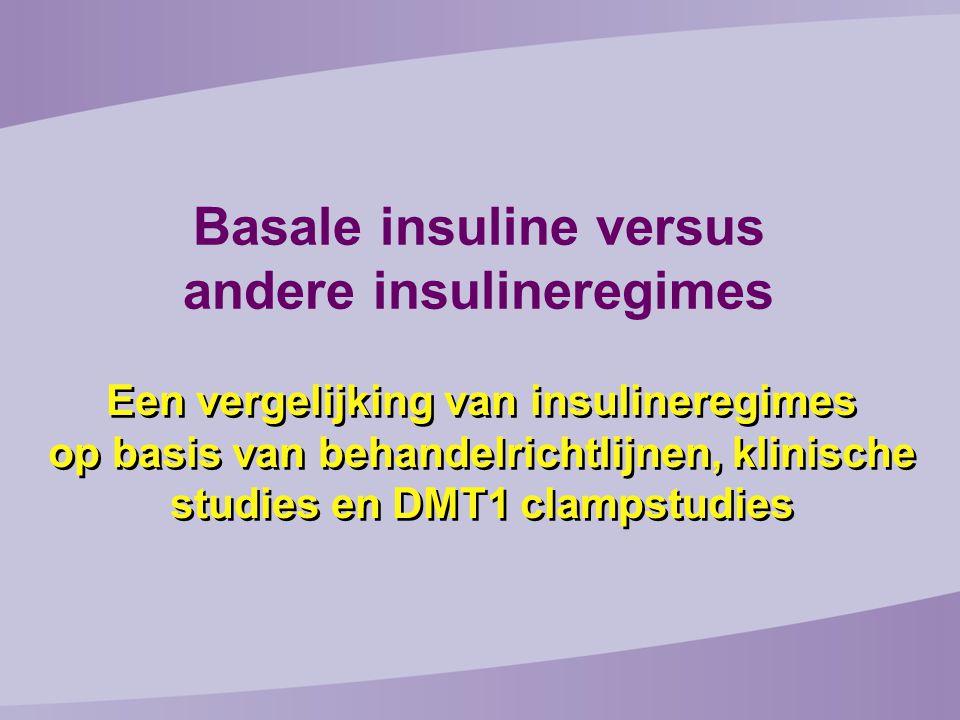 Een vergelijking van insulineregimes op basis van behandelrichtlijnen, klinische studies en DMT1 clampstudies Basale insuline versus andere insulineregimes