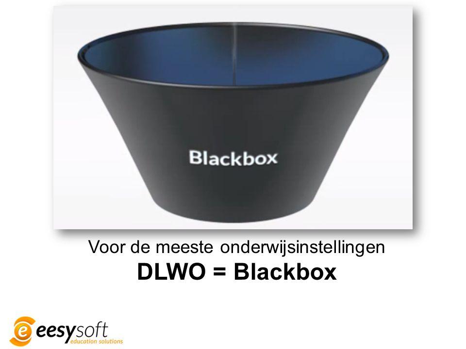Voor de meeste onderwijsinstellingen DLWO = Blackbox