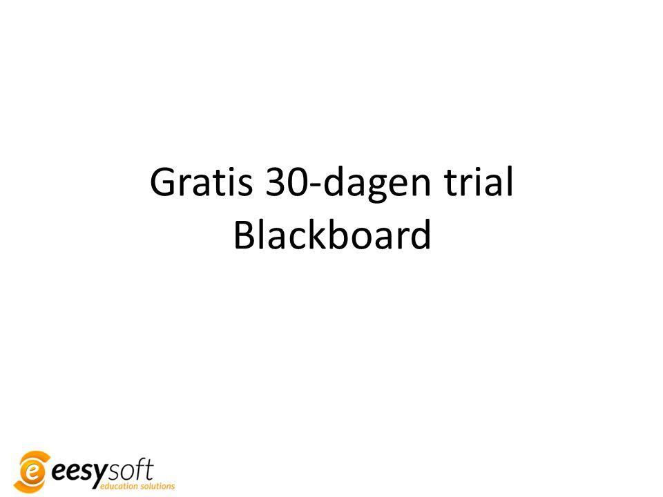 Gratis 30-dagen trial Blackboard