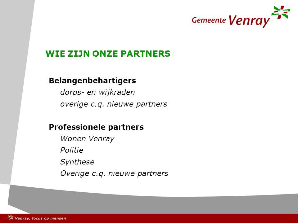 Stelling 4 De gemeenteraad is de enige gekozen vertegenwoordiging van de Venrayse samenleving.
