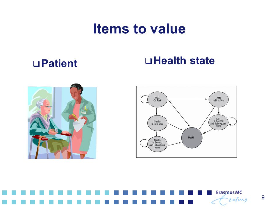 Items to value  Patient  Health state 9