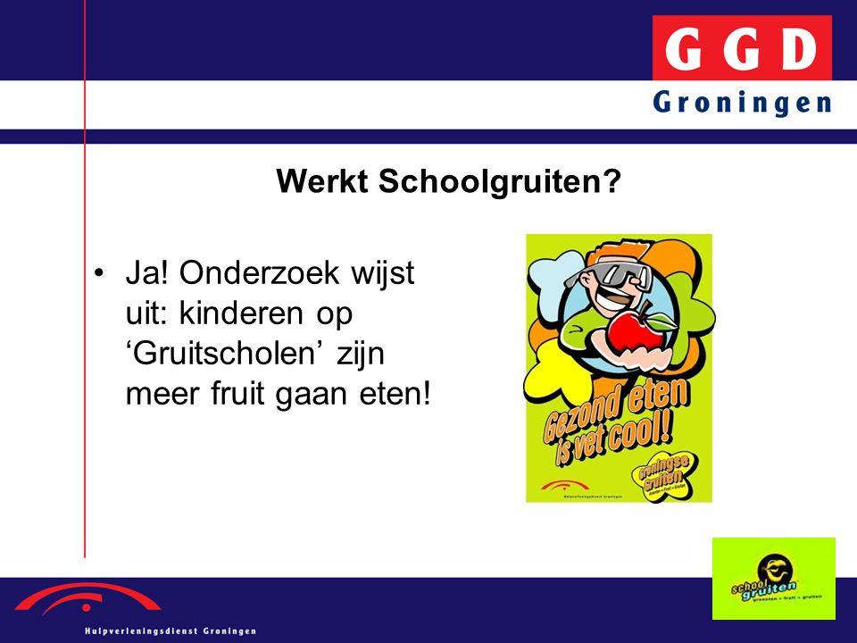 Werkt Schoolgruiten Ja! Onderzoek wijst uit: kinderen op 'Gruitscholen' zijn meer fruit gaan eten!