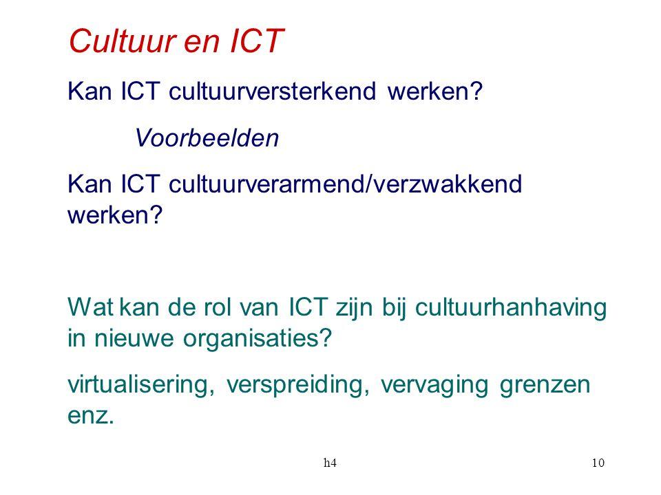 h410 Cultuur en ICT Kan ICT cultuurversterkend werken.