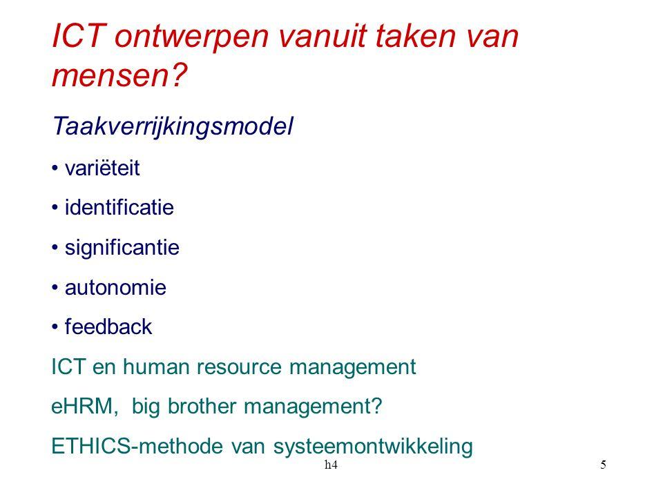 h45 ICT ontwerpen vanuit taken van mensen.
