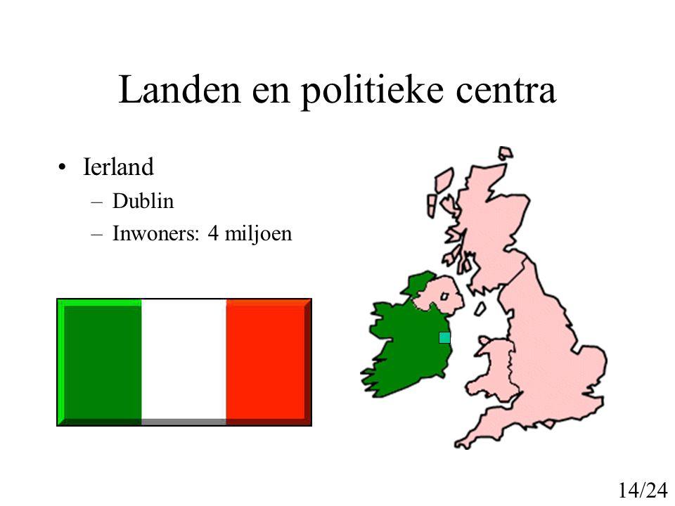 Historie onstaan VK 900-950 nC: Ontstaan Engeland 900-1000nC: Ontstaan Schotland 1000nC: Vikingen stichten Koninkrijk in Ierland 1169nC: Engeland bezet Ierland 1150-1200nC: Engelsen bezetten delen van Wales 1297nC: 1e Ierse parlement 1536nC: Wales sluit zich aan bij Engeland 1541 nC: Hendrik 8 wordt Koning van Ierland 15/24