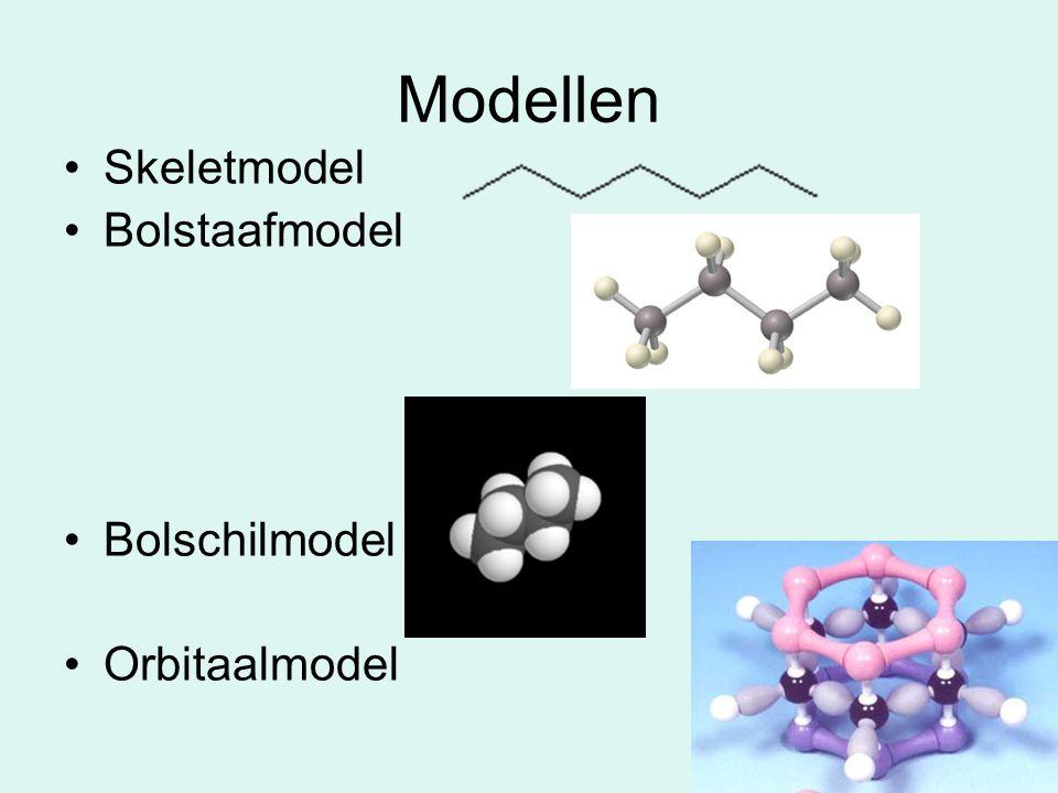 Modellen Skeletmodel Bolstaafmodel Bolschilmodel Orbitaalmodel