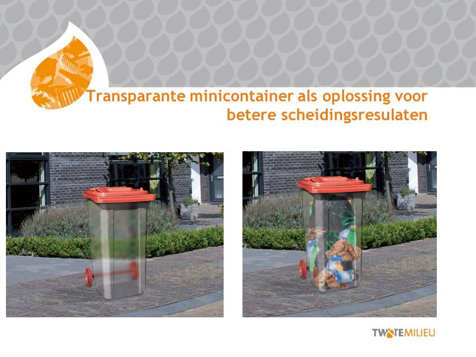 Transparante minicontainer als oplossing voor betere scheidingsresulaten