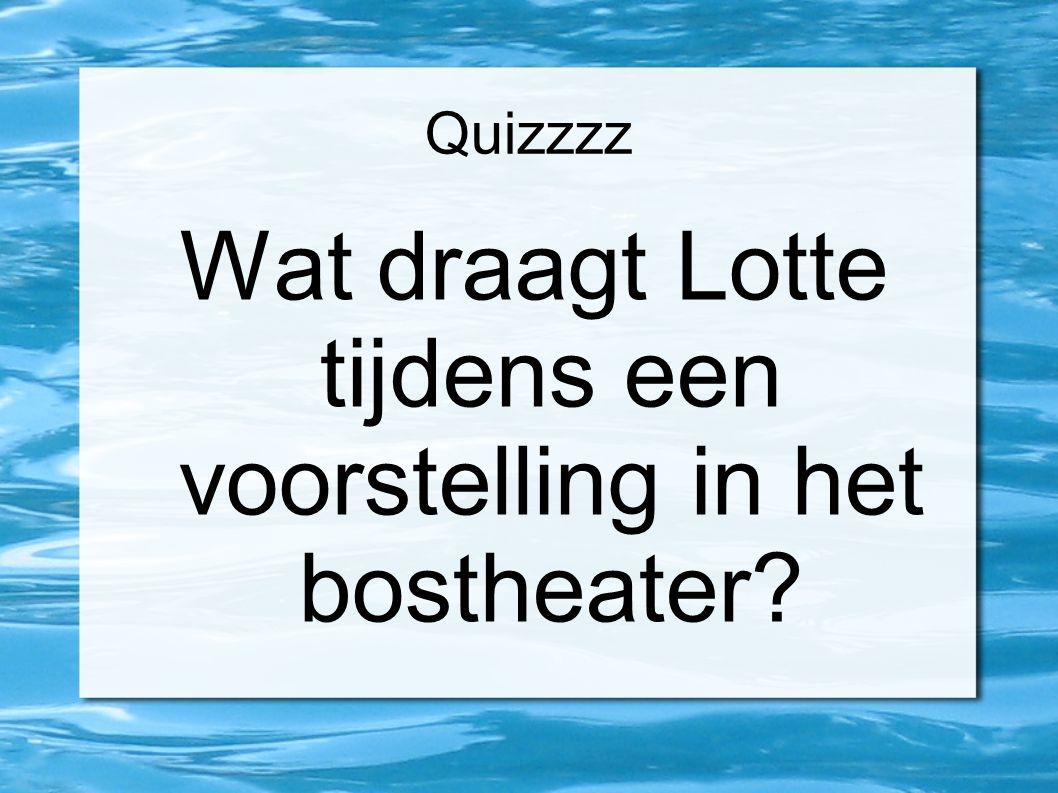 Quizzzz Waar eet Lotte op een doorsnee avond?