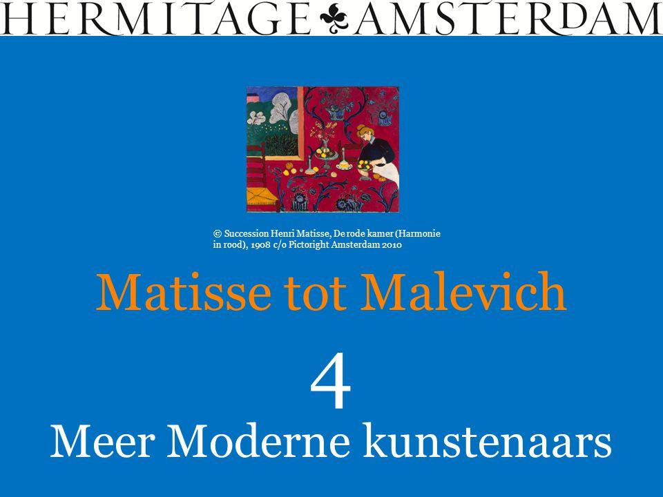 Meer Moderne kunstenaars Matisse tot Malevich 4 © Succession Henri Matisse, De rode kamer (Harmonie in rood), 1908 c/o Pictoright Amsterdam 2010