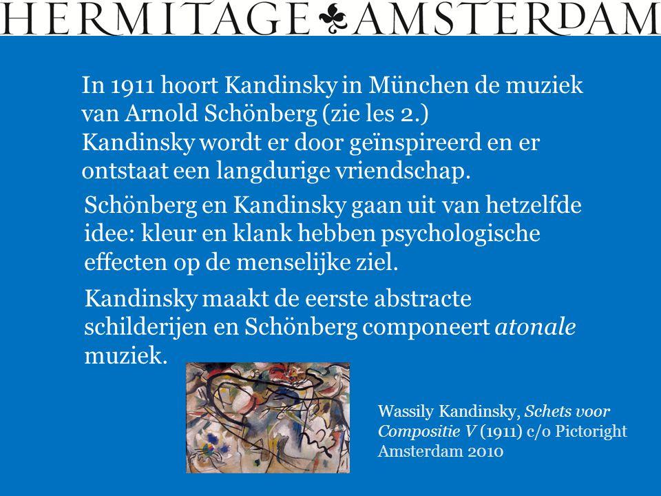 Schönberg en Kandinsky gaan uit van hetzelfde idee: kleur en klank hebben psychologische effecten op de menselijke ziel. Wassily Kandinsky, Schets voo