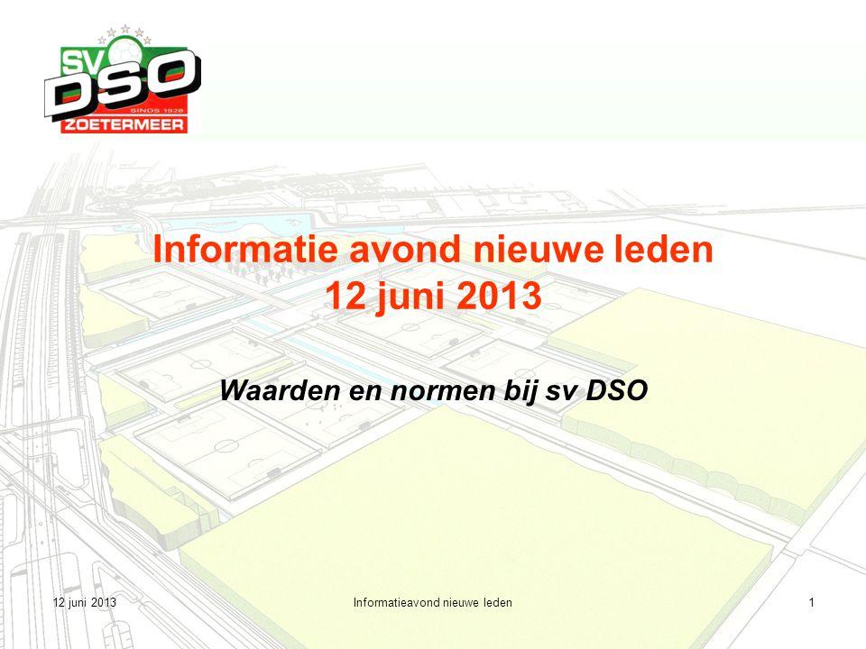 12 juni 2013Informatieavond nieuwe leden2 Agenda 1.Het Statuut 2.Commissie Waarden en Normen 3.Werkwijze commissie 4.Gedrags- en huisregels 5.Tot slot