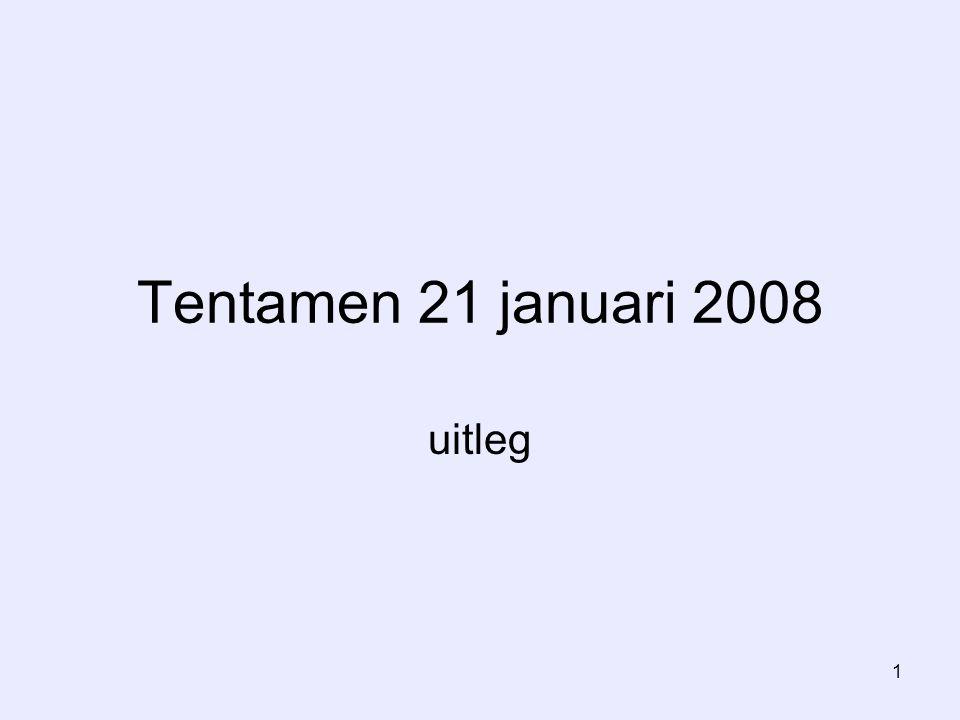 1 Tentamen 21 januari 2008 uitleg