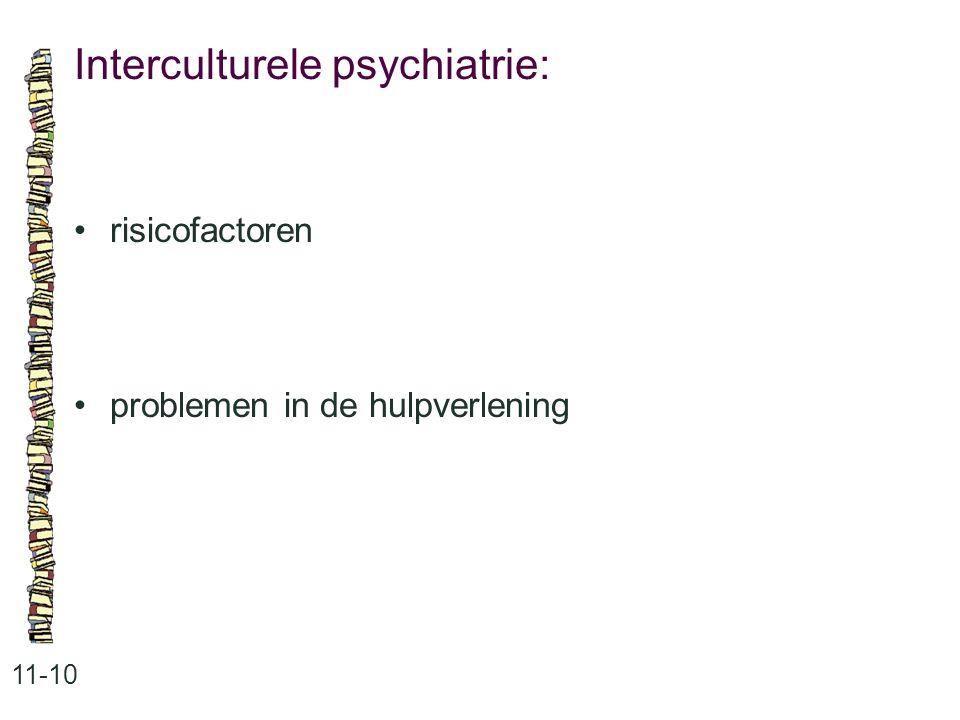 Interculturele psychiatrie: 11-10 risicofactoren problemen in de hulpverlening