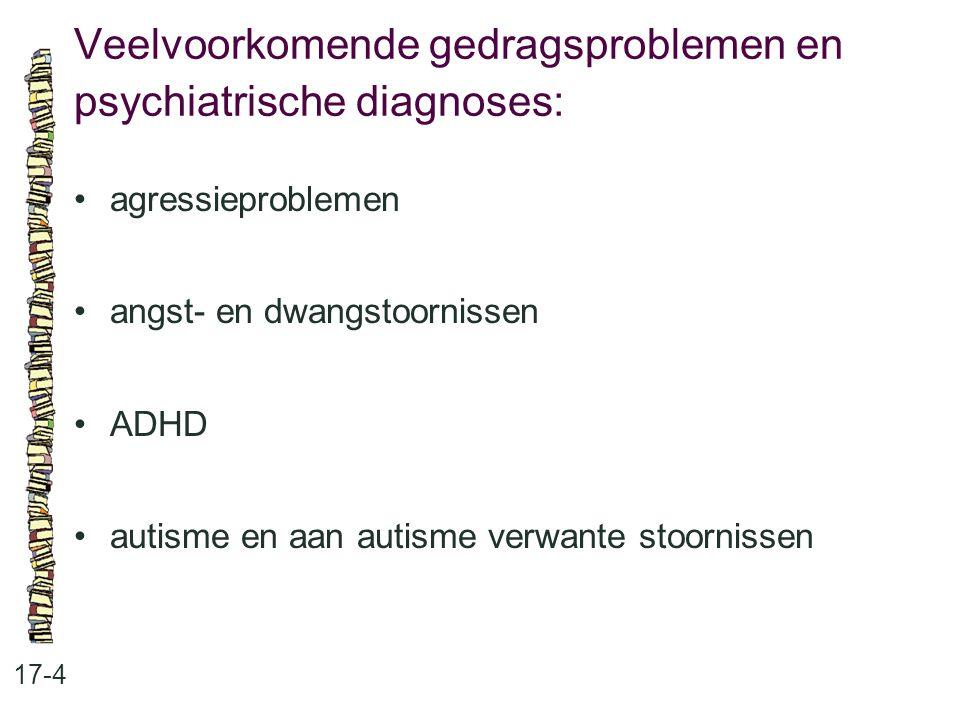 Veelvoorkomende gedragsproblemen en psychiatrische diagnoses: 17-4 agressieproblemen angst- en dwangstoornissen ADHD autisme en aan autisme verwante s