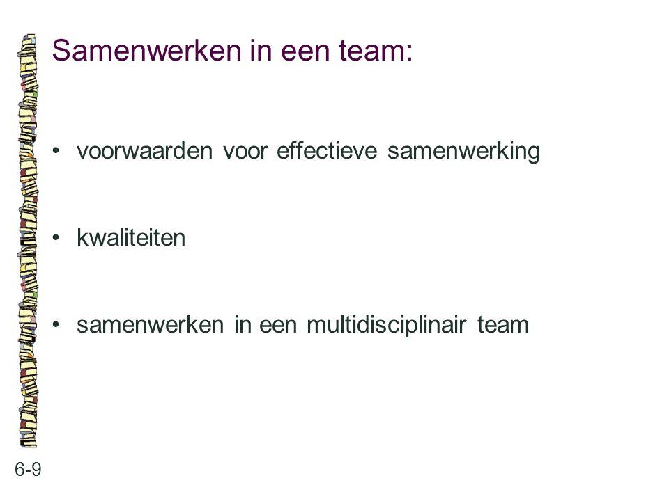 Samenwerken in een team: 6-9 voorwaarden voor effectieve samenwerking kwaliteiten samenwerken in een multidisciplinair team