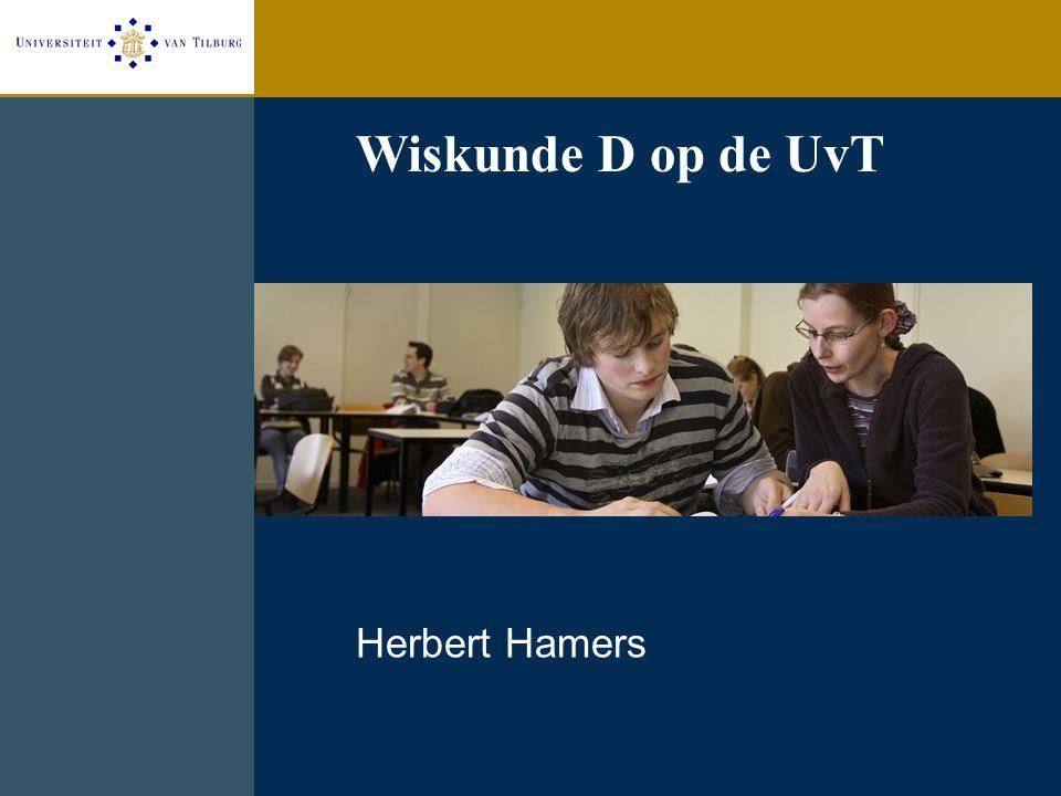 1. Website www.uvt.nl/wiskunded Communicatie