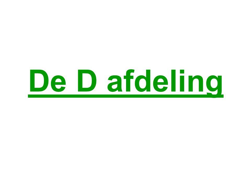 De D afdeling