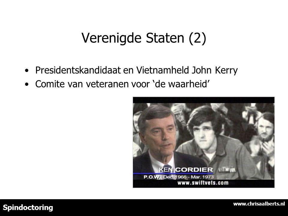 Verenigde Staten (2) Presidentskandidaat en Vietnamheld John Kerry Comite van veteranen voor 'de waarheid' www.chrisaalberts.nl Spindoctoring