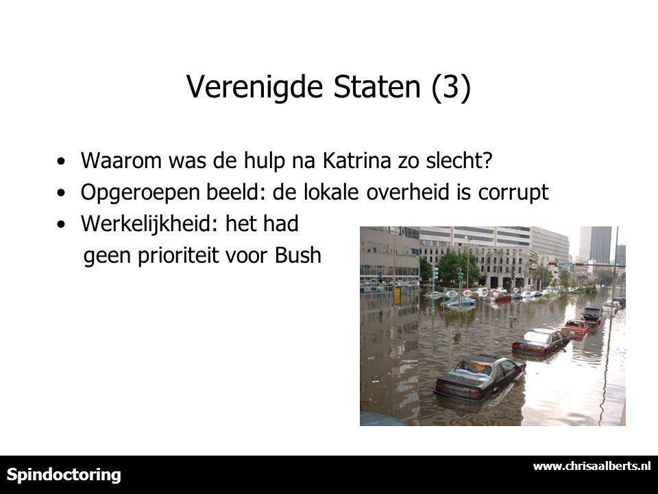 Verenigde Staten (3) Waarom was de hulp na Katrina zo slecht.