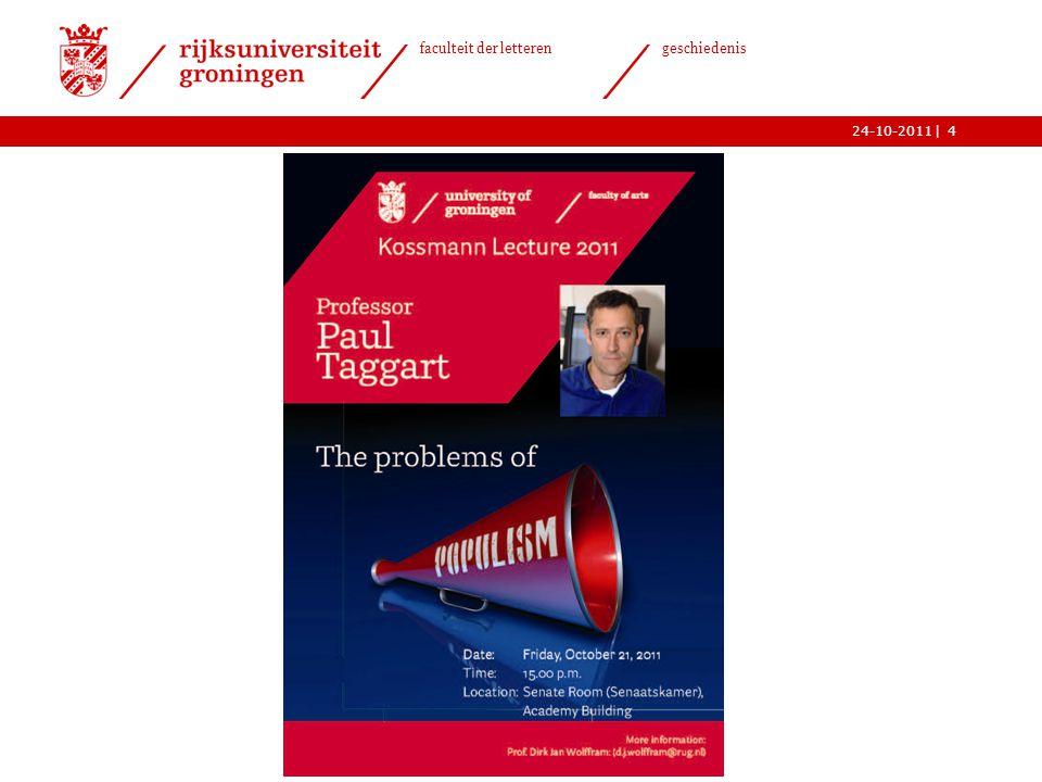  faculteit der letteren geschiedenis 24-10-2011 Volk – massa - populisme ›Is een beroep op het volk per definitie populistisch.
