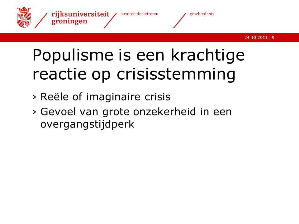   faculteit der letteren geschiedenis 24-10-2011 Modern populisme ›http://www.youtube.com/watch?v=wxO2hIoSc pEhttp://www.youtube.com/watch?v=wxO2hIoSc pE 20