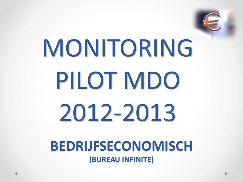 MONITORING PILOT MDO 2012-2013 BEDRIJFSECONOMISCH (BUREAU INFINITE)