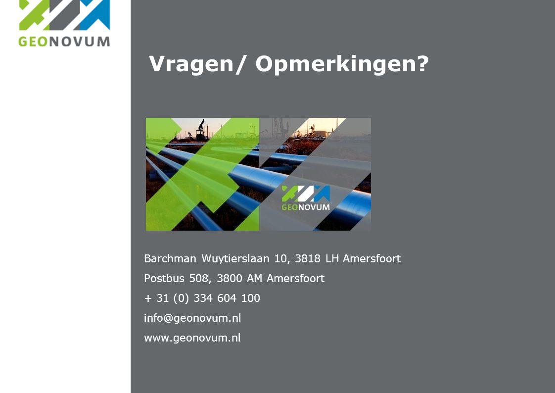 Barchman Wuytierslaan 10, 3818 LH Amersfoort Postbus 508, 3800 AM Amersfoort + 31 (0) 334 604 100 info@geonovum.nl www.geonovum.nl Vragen/ Opmerkingen