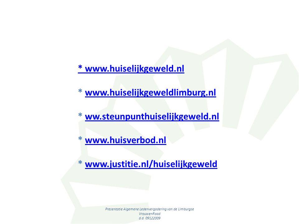 Presentatie Algemene Ledenvergadering van de Limburgse VrouwenRaad d.d.