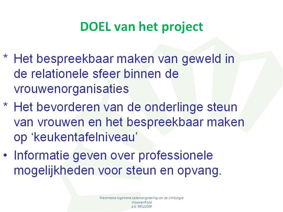 Presentatie Algemene Ledenvergadering van de Limburgse VrouwenRaad d.d. 09122009