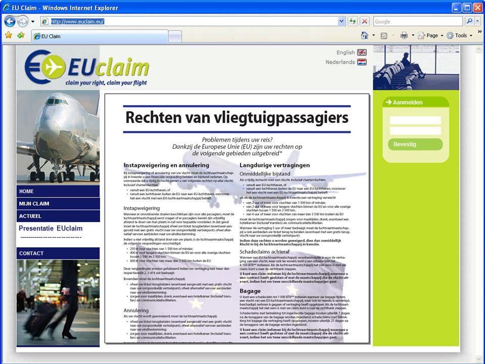 Presentatie EUclaim ----------------------------