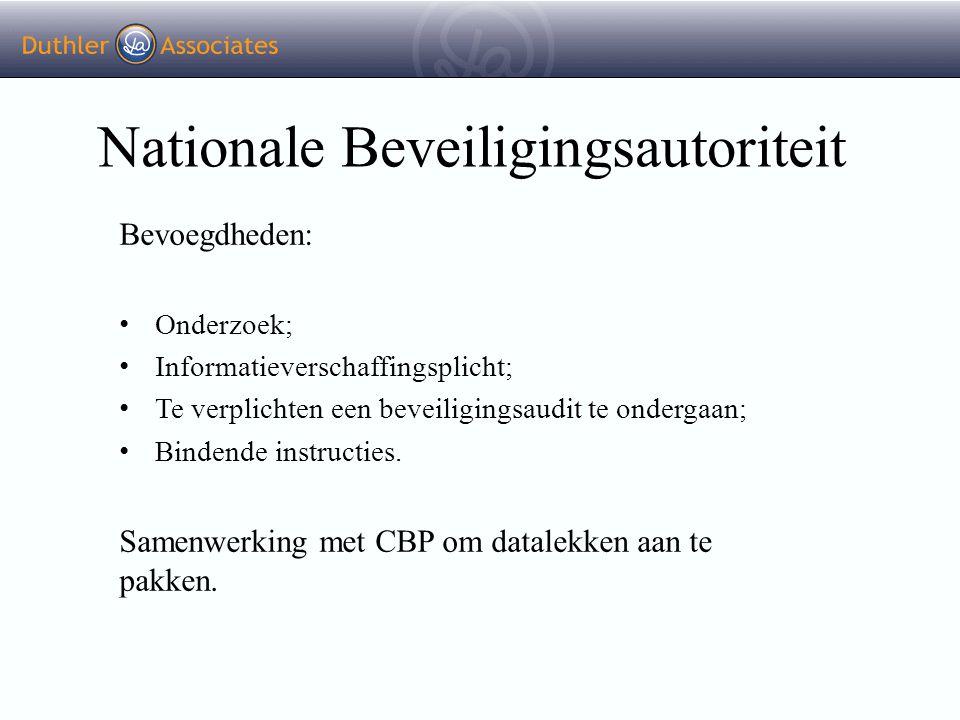Nationale Beveiligingsautoriteit Bevoegdheden: Onderzoek; Informatieverschaffingsplicht; Te verplichten een beveiligingsaudit te ondergaan; Bindende i