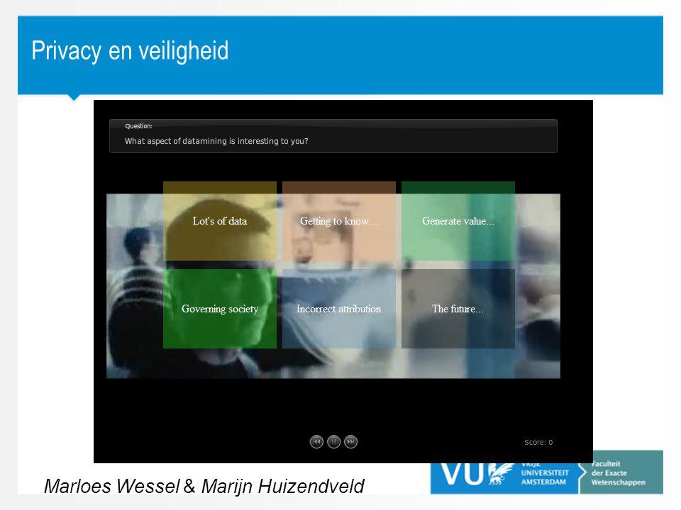 Privacy en veiligheid Marloes Wessel & Marijn Huizendveld