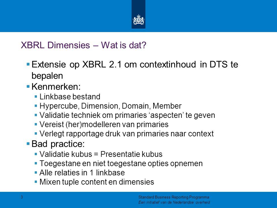 XBRL Dimensies – Wat is dat.