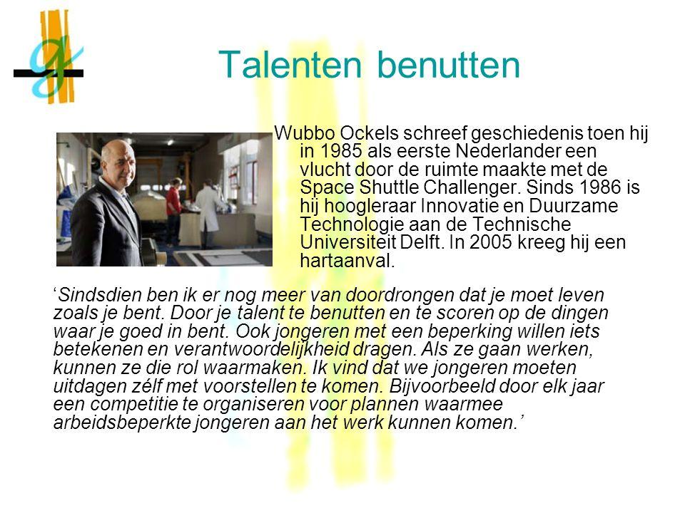 Talenten benutten Wubbo Ockels schreef geschiedenis toen hij in 1985 als eerste Nederlander een vlucht door de ruimte maakte met de Space Shuttle Challenger.