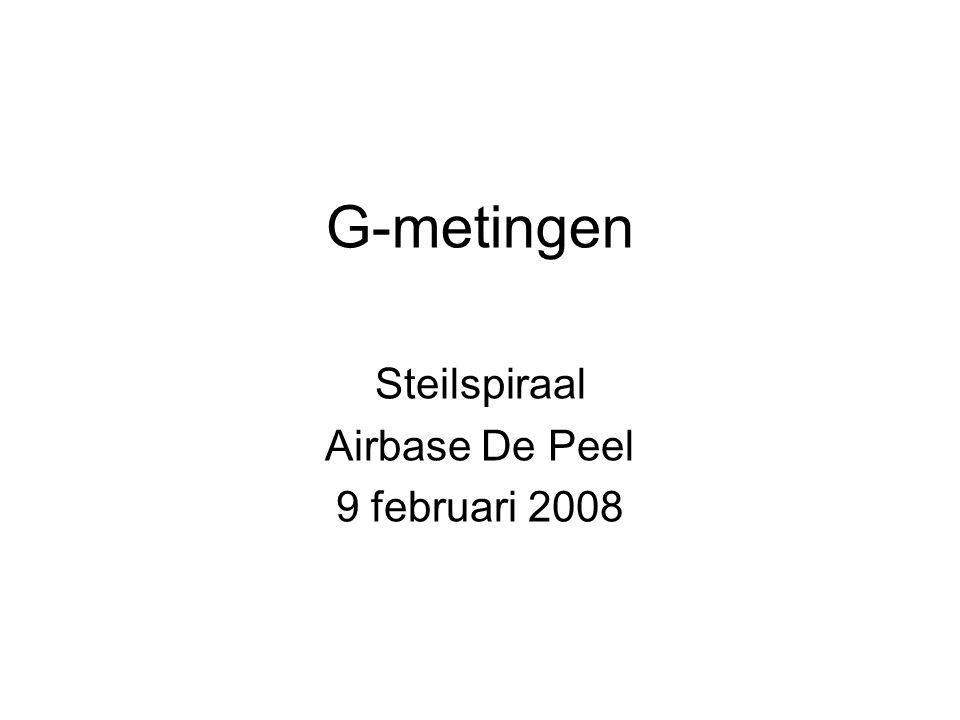 G-metingen Steilspiraal Airbase De Peel 9 februari 2008