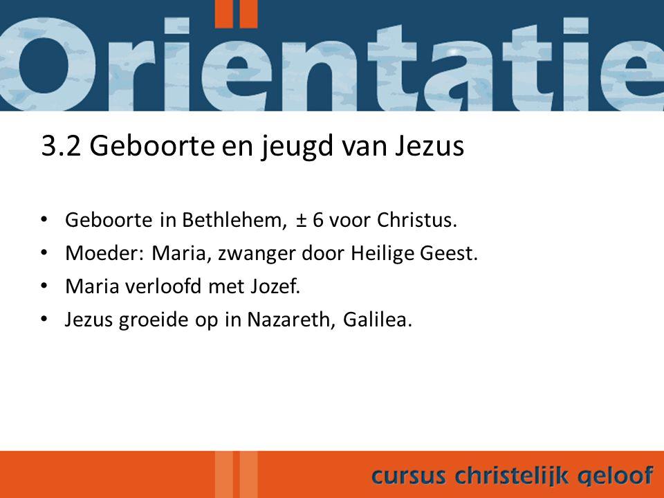 3.3 Begin van Jezus' optreden als leraar Jezus' openbare optreden duurde 3 jaar (± 26-29 na Chr.) Johannes de Doper: bereidt mensen voor op Jezus.