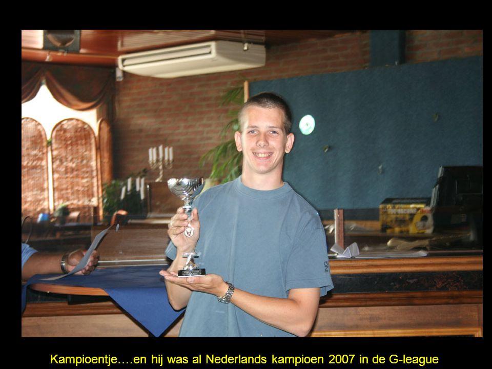 Kampioentje….en hij was al Nederlands kampioen 2007 in de G-league