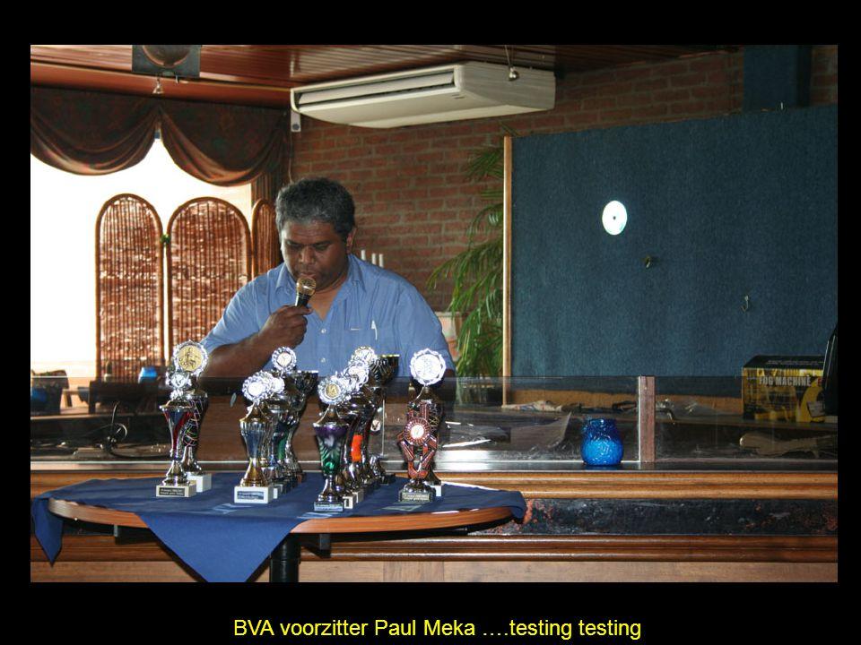 BVA voorzitter Paul Meka ….testing testing