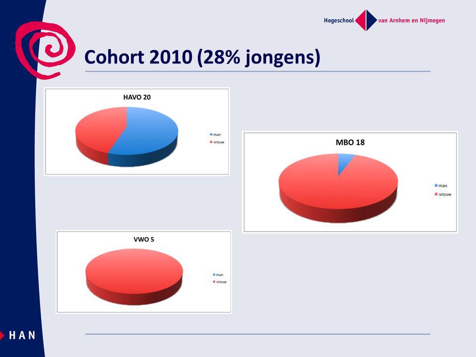 Cohort 2010 (28% jongens)