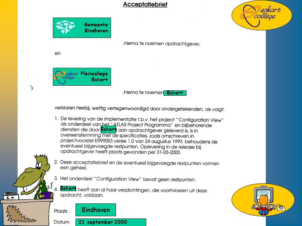 Gemeente Eindhoven Pleincollege Eckart Eindhoven 21 september 2000